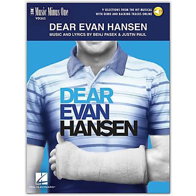 Hal Leonard Dear Evan Hansen - Music Minus One Vocals (Book/Audio Online) 9 Selections From Musical