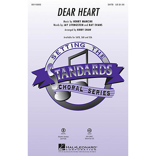 Hal Leonard Dear Heart ShowTrax CD by Andy Williams Arranged by Kirby Shaw