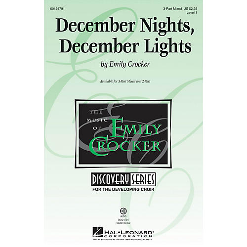 Hal Leonard December Nights, December Lights (Discovery Level 1) 3-Part Mixed composed by Emily Crocker