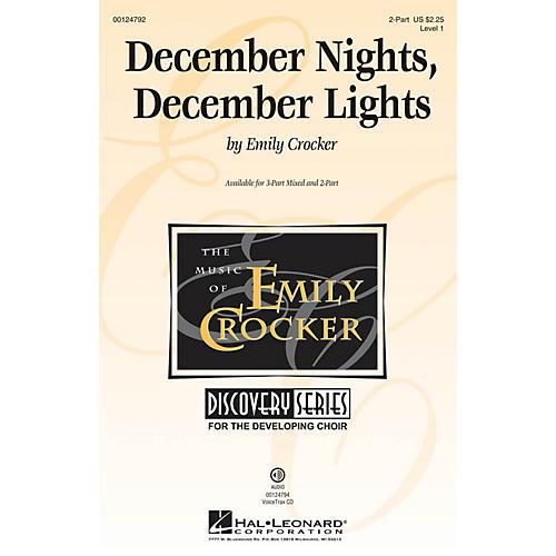 Hal Leonard December Nights, December Lights (Discovery Level 1) UNIS/2PT composed by Emily Crocker