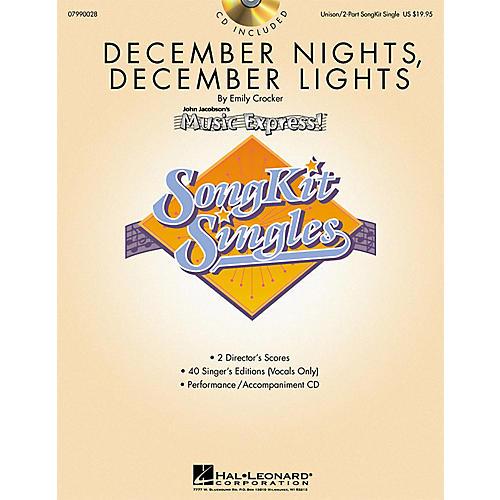 Hal Leonard December Nights, December Lights (SongKit Single) UNIS/2PT Composed by Emily Crocker