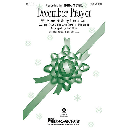 Hal Leonard December Prayer SAB by Idina Menzel arranged by Mac Huff