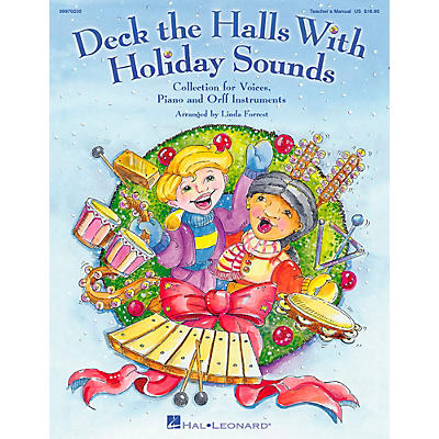 Hal Leonard Deck The Halls With Holiday Sounds Song Collection for Voice and Orff Instruments Vocal 10-Pack