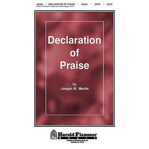 Shawnee Press Declaration of Praise SATB composed by Joseph M. Martin