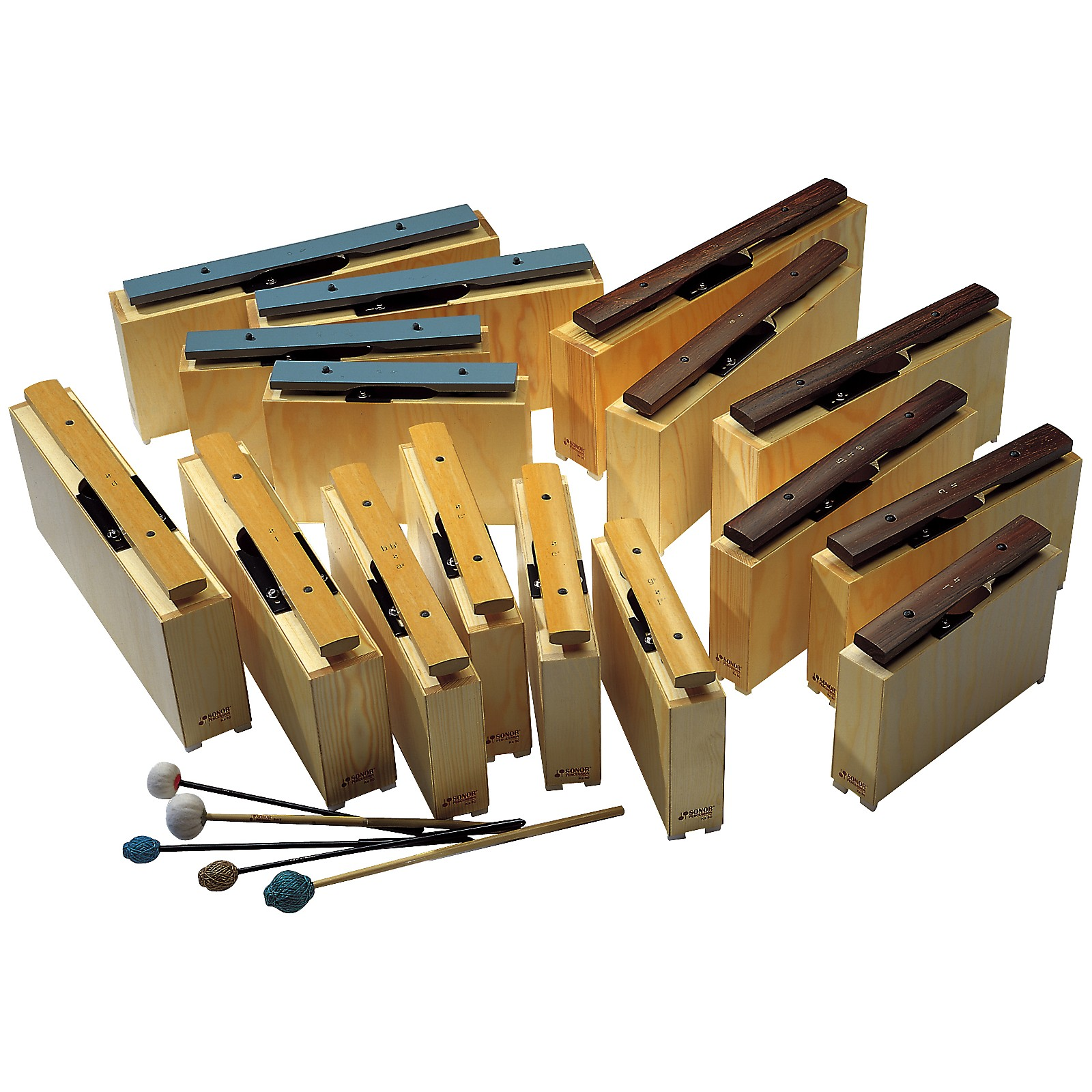Sonor Orff Deep Bass Chime Bars c-c'