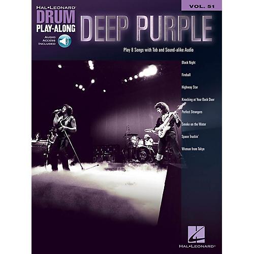 Hal Leonard Deep Purple Drum Play-Along Volume 51 Book/Audio Online