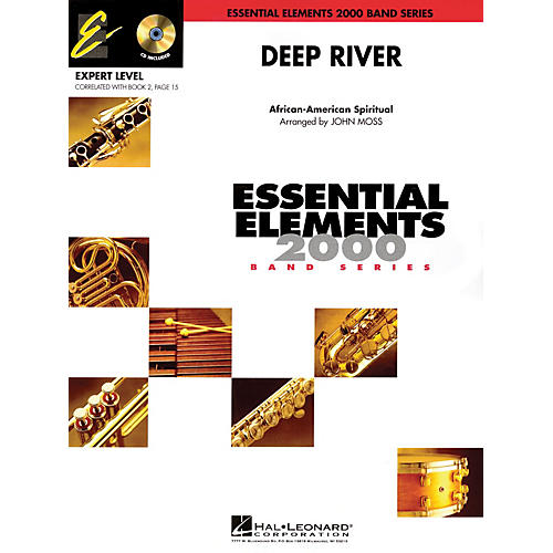 Hal Leonard Deep River (Includes Full Performance CD) Concert Band Level 2 Arranged by John Moss