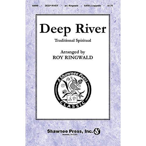 Shawnee Press Deep River SATB a cappella arranged by Roy Ringwald