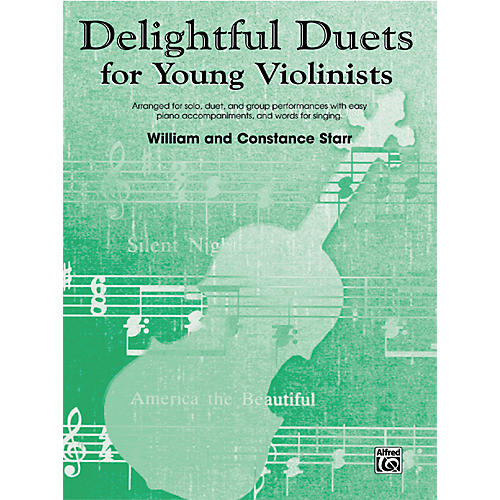 Alfred Delightful Duets for Young Violinists, Piano Accompaniment (Book)