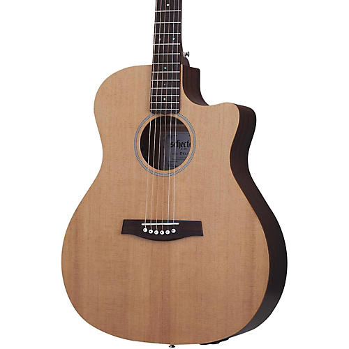 Schecter Guitar Research Deluxe Acoustic Guitar Satin Natural