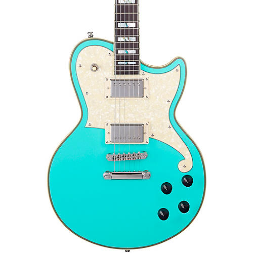 D'Angelico Deluxe Atlantic Limited-Edition Solidbody Electric Guitar Matte Surf Green