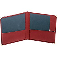 Deluxe Grand Concert Band Folio With Pencil Holder Red