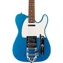 Deluxe Journeyman Relic Twisted Telecaster Bigsby Electric Guitar Blue Sparkle
