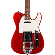 Deluxe Journeyman Relic Twisted Telecaster Bigsby Electric Guitar Red Sparkle