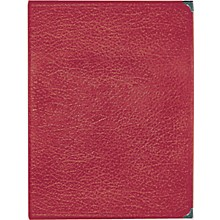 Deluxe Leatherette Choral Folio Red