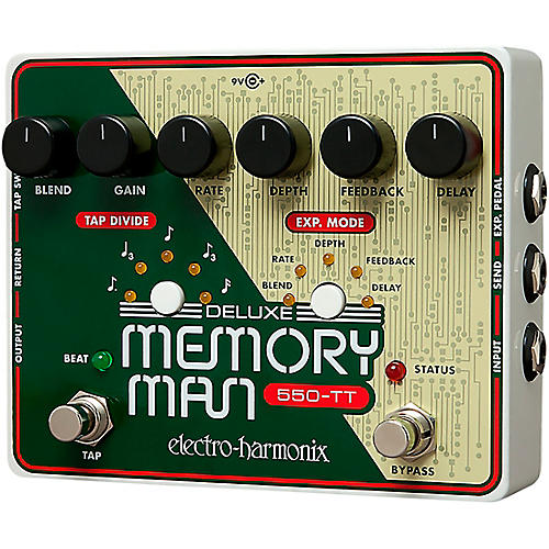 Electro-Harmonix Deluxe Memory Man Tap Tempo 550 Delay Guitar Effects Pedal