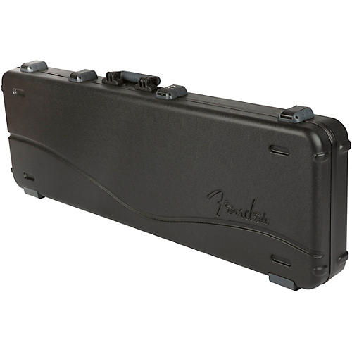Fender Deluxe Molded ABS Left-Handed P/J Bass Guitar Case Black Gray/Silver