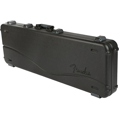 Fender Deluxe Molded ABS P/J Bass Guitar Case Condition 1 - Mint Black Gray/Silver