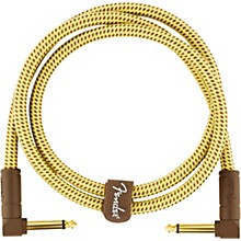 Deluxe Series Angle to Angle Instrument Cable 3 ft. Yellow Tweed
