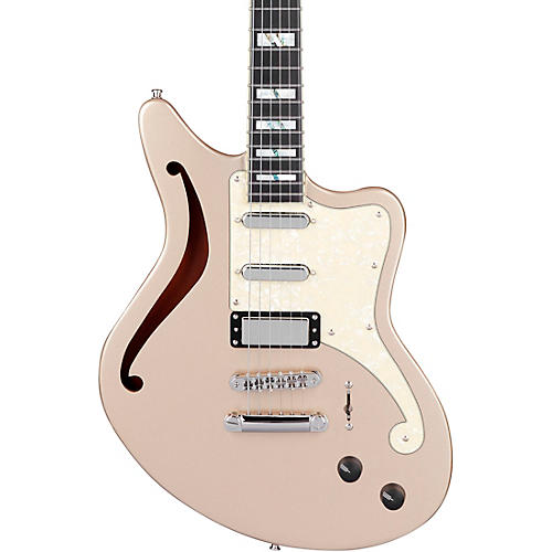 D'Angelico Deluxe Series Bedford SH Electric Guitar With USA Seymour Duncan Pickups and Stopbar Tailpiece Desert Gold