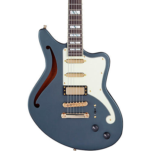 D'Angelico Deluxe Series Bedford SH Limited-Edition Electric Guitar Matte Charcoal