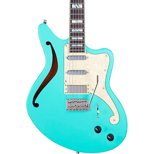 D'Angelico Deluxe Series Bedford SH Limited-Edition Electric Guitar Matte Surf Green