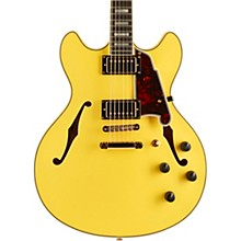 Deluxe Series Limited Edition DC Hollowbody Ebony Fingerboard Electric Guitar Electric Yellow
