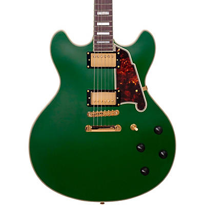 D'Angelico Deluxe Series Limited Edition DC Non F-Hole Semi-Hollowbody Electric Guitar
