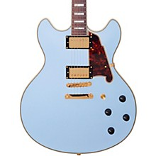 Deluxe Series Limited Edition DC Non F-Hole Semi-Hollowbody Electric Guitar Matte Powder Blue Tortoise Pickguard