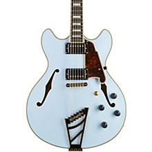 Deluxe Series Limited Edition DC  Semi-Hollowbody Electric Guitar with Custom Seymour Duncan Pickups and Stairstep Tailpiece Matte Powder Blue Tortoise Pickguard
