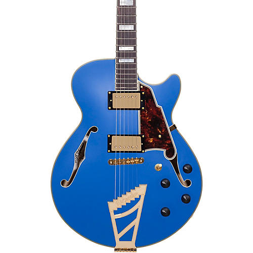 D'Angelico Deluxe Series Limited Edition EX-SS with Stairstep Tailpiece Hollowbody Electric Guitar Condition 2 - Blemished Royal Blue, Tortoise Pickguard 190839602695