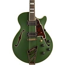 Deluxe Series Limited Edition SS Semi-Hollow Electric Guitar with Custom Seymour Duncan Pickups and Stairstep Tailpiece Matte Emerald Tortoise Pickguard