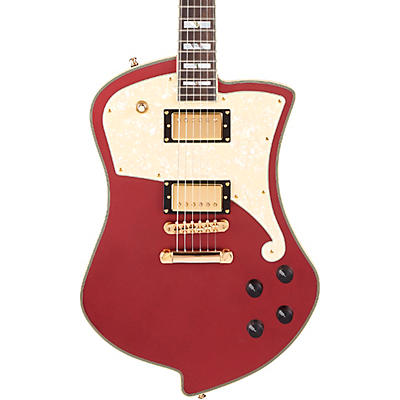 D'Angelico Deluxe Series Ludlow Limited-Edition Solidbody Electric Guitar with USA Seymour Duncan Humbuckers and Stopbar Tailpiece