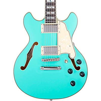 D'Angelico Deluxe Series Mini DC With USA Seymour Duncan Humbuckers Limited-Edition Semi-Hollow Electric Guitar