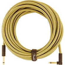 Deluxe Series Straight to Angle Instrument Cable 25 ft. Yellow Tweed