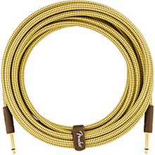 Deluxe Series Straight to Straight Instrument Cable 10 ft. Yellow Tweed