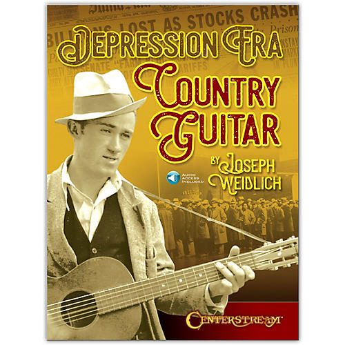 Centerstream Publishing Depression Era Country Guitar Book/Audio Online