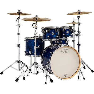 DW Design Series 5-Piece Finish Ply Shell Pack with Chrome Hardware