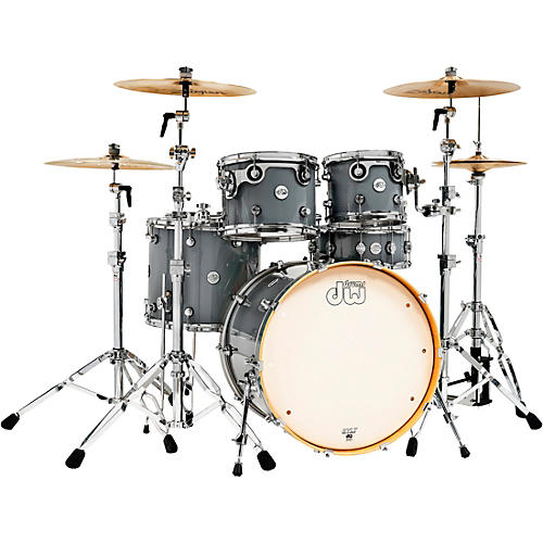 DW Design Series 5-Piece Lacquer Shell Pack Steel Gray