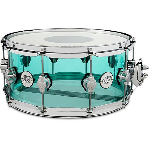 Dw Design Series Acrylic Snare Drum 14 X 6 5 In Sea Glass Musician S Friend