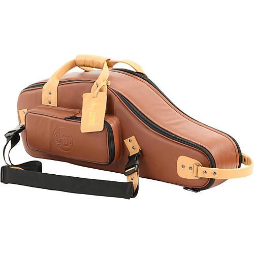 Gard Designer Leather Alto Saxophone Gig Bag Brown Black