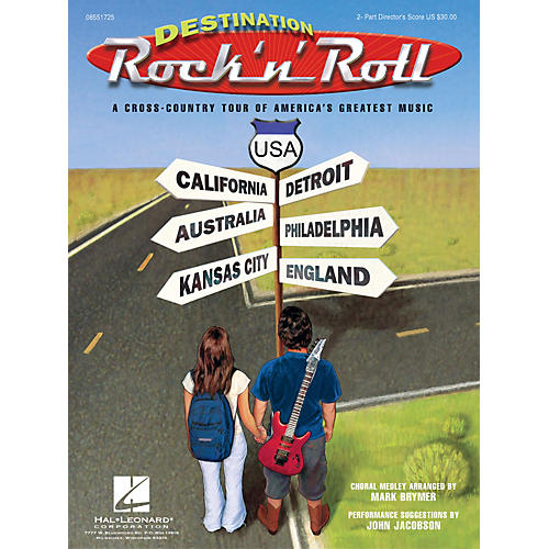 Hal Leonard Destination Rock 'n' Roll (Choral Revue) 2-Part Score arranged by Mark Brymer