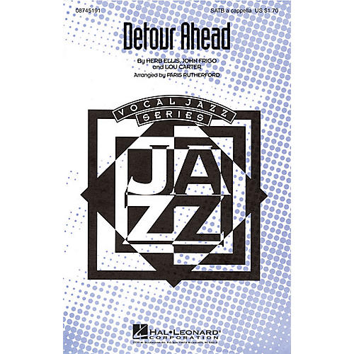 Hal Leonard Detour Ahead SATB a cappella arranged by Paris Rutherford