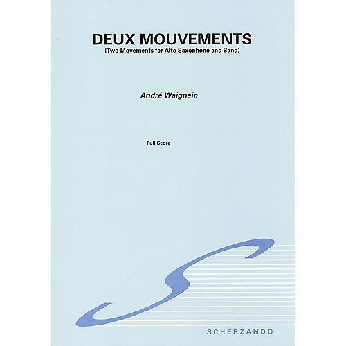 De Haske Music Deux Mouvements Sc Only   For Alto Sax And Band Concert Band
