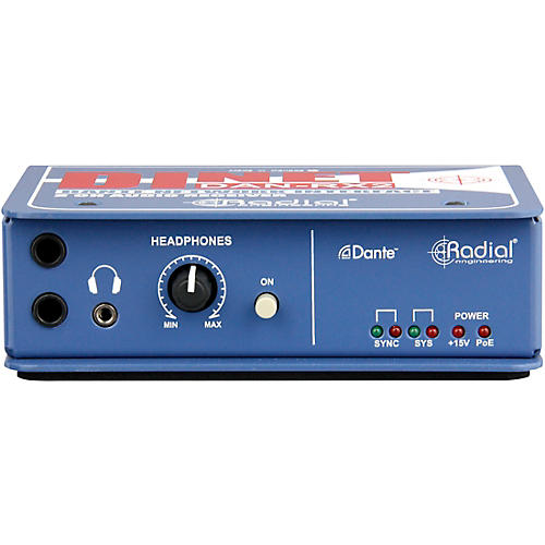 Radial Engineering DiNET DAN-RX2 2-Channel Dante Network Receiver