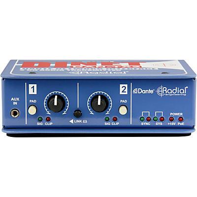 Radial Engineering DiNET DAN-TX2 2-Channel Dante Network Transmitter