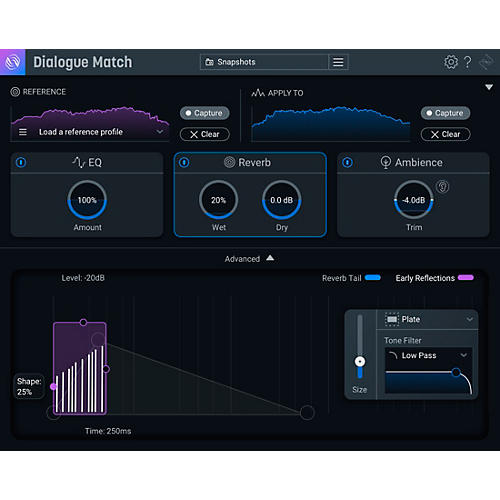 iZotope Dialogue Match: Crossgrade from any Surround Reverb (Download)