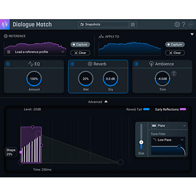 iZotope Dialogue Match: Crossgrade from any standard or advanced product (Download)