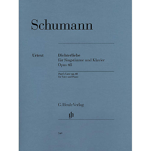G. Henle Verlag Dichterliebe for Voice and Piano, Op. 48 Henle Music Softcover by Robert Schumann Edited by Kazuko Ozawa