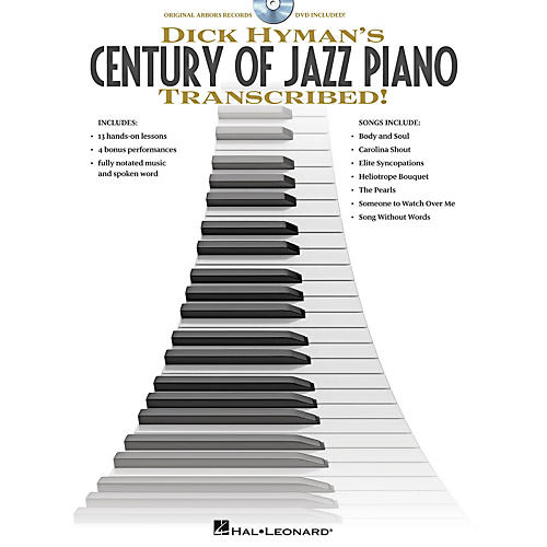 Hal Leonard Dick Hyman's Century Of Jazz Piano - Transcribed!  Instructional Book/DVD